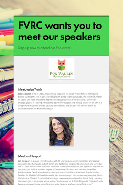 FVRC wants you to meet our speakers