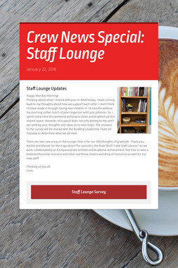 Crew News Special: Staff Lounge