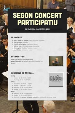 Segon Concert Participatiu