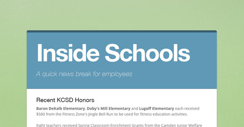 Inside Schools | Smore Newsletters for Education