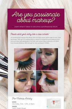 Are you passionate about makeup?