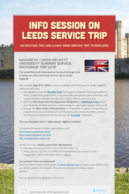 Info Session on Leeds Service Trip