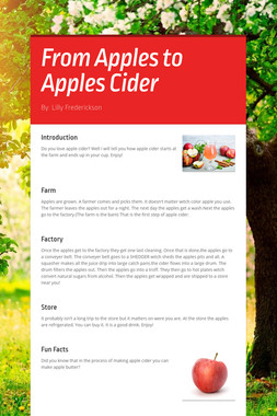 From Apples to Apples Cider