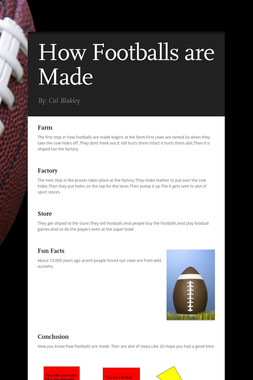 How Footballs are Made