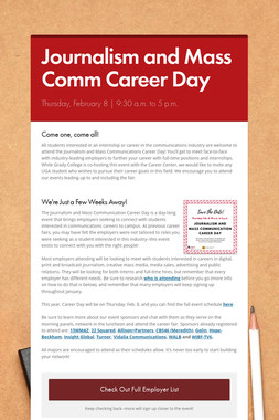 Journalism and Mass Comm Career Day