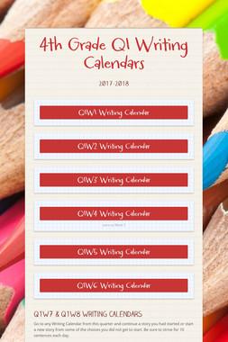 4th Grade Q1 Writing Calendars