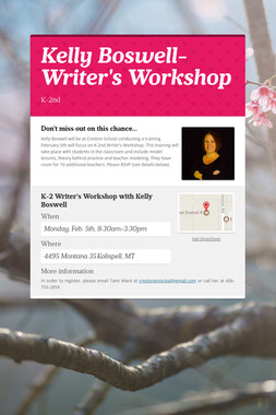 Kelly Boswell-Writer's Workshop