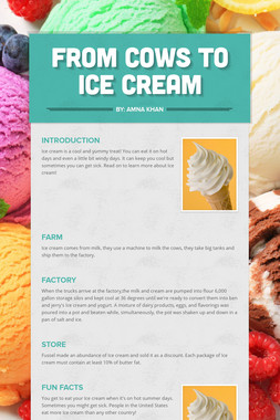 From Cows to Ice Cream