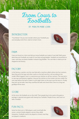 From Cows to Footballs