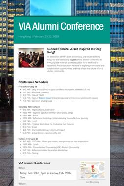 VIA Alumni Conference