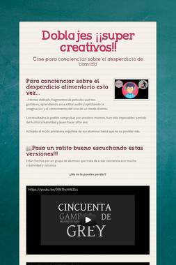 Doblajes ¡¡super creativos!!