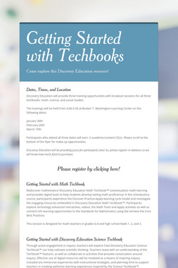 Getting Started with Techbooks