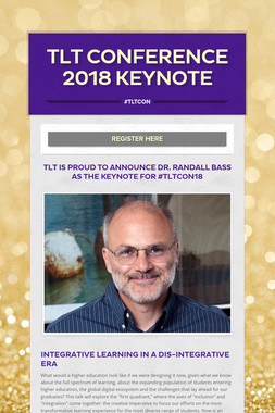 TLT Conference 2018 Keynote