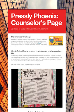 Pressly Phoenix:  Counselor's Page