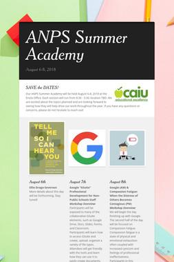 ANPS Summer Academy