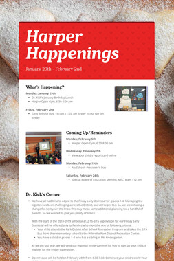 Harper Happenings