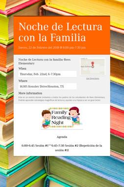 Noche de Lectura con la Familia