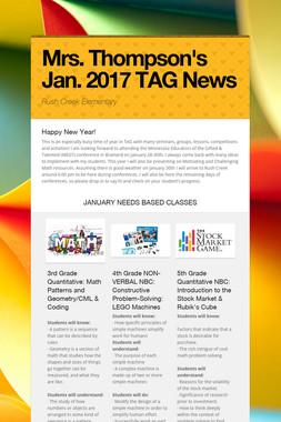 Mrs. Thompson's Jan. 2017 TAG News