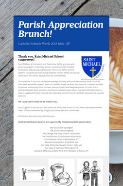 Parish Appreciation Brunch!