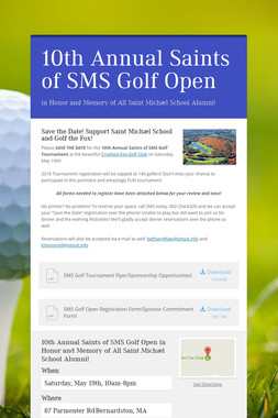 10th Annual Saints of SMS Golf Open