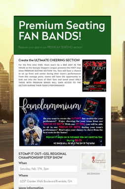 Premium Seating FAN BANDS!
