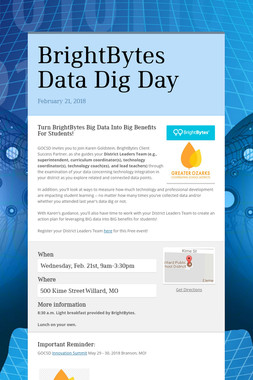 BrightBytes Data Dig Day