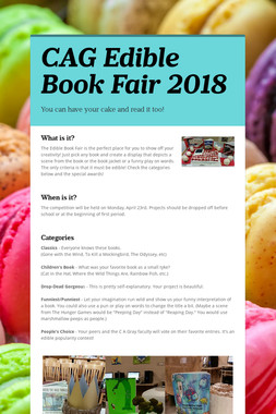 CAG Edible Book Fair 2018