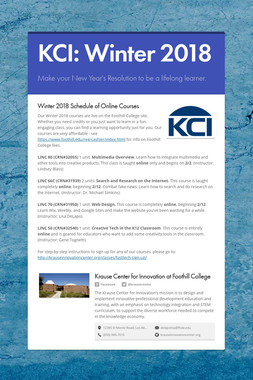 KCI: Winter 2018