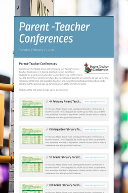 Parent -Teacher Conferences