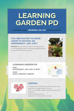 Learning Garden PD