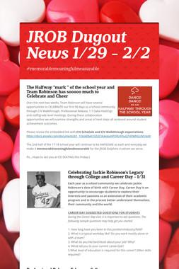 JROB Dugout News  1/29 - 2/2