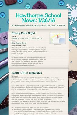 Hawthorne School News: 1/26/18