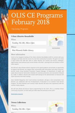 OLIS CE Programs February 2018