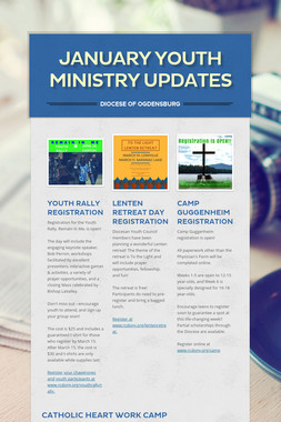 January Youth Ministry Updates