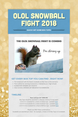 OLOL SNOWBALL FIGHT 2018