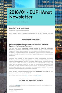 2018/01 - EUPHAnxt Newsletter