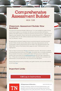 Comprehensive Assessment Builder