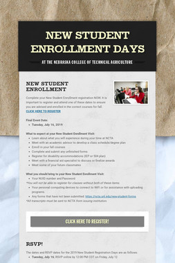 New Student Enrollment Days