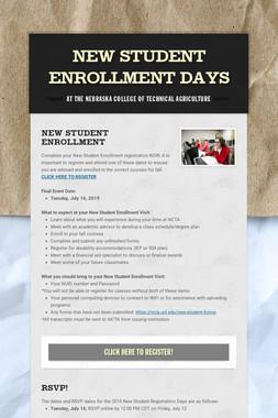 New Student Enrollment Days