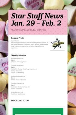 Star Staff News   Jan. 29 - Feb. 2