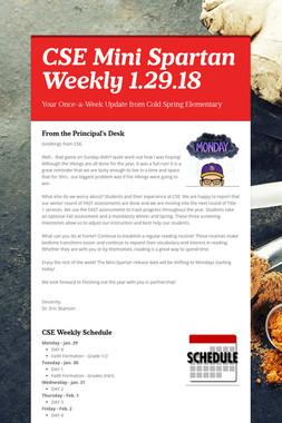 CSE Mini Spartan Weekly 1.29.18