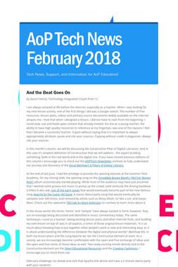 AoP Tech News February 2018