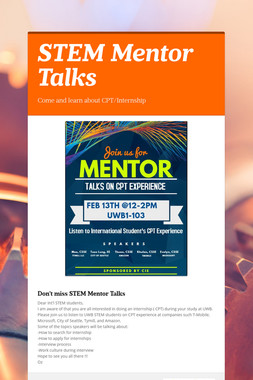 STEM Mentor Talks