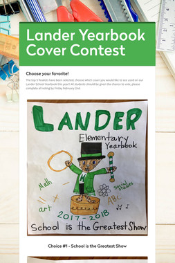 Lander Yearbook Cover Contest