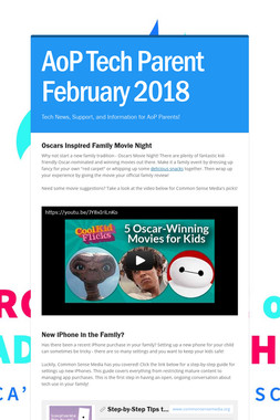 AoP Tech Parent February 2018