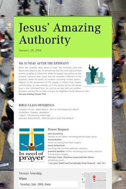 Jesus' Amazing Authority