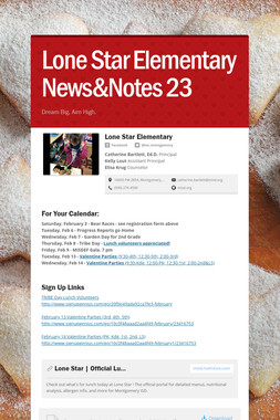 Lone Star Elementary News&Notes 23