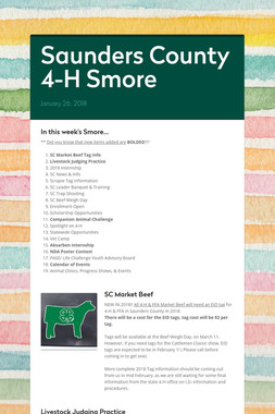 Saunders County 4-H Smore