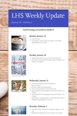LHS Weekly  Update