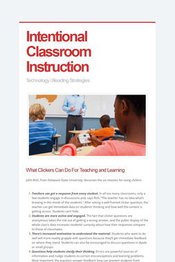 Intentional Classroom Instruction